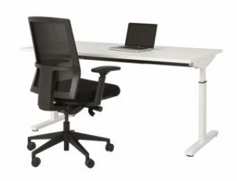 Bureau Easy Home L160 cm  wit