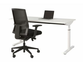 Bureau Easy Home L140 cm wit
