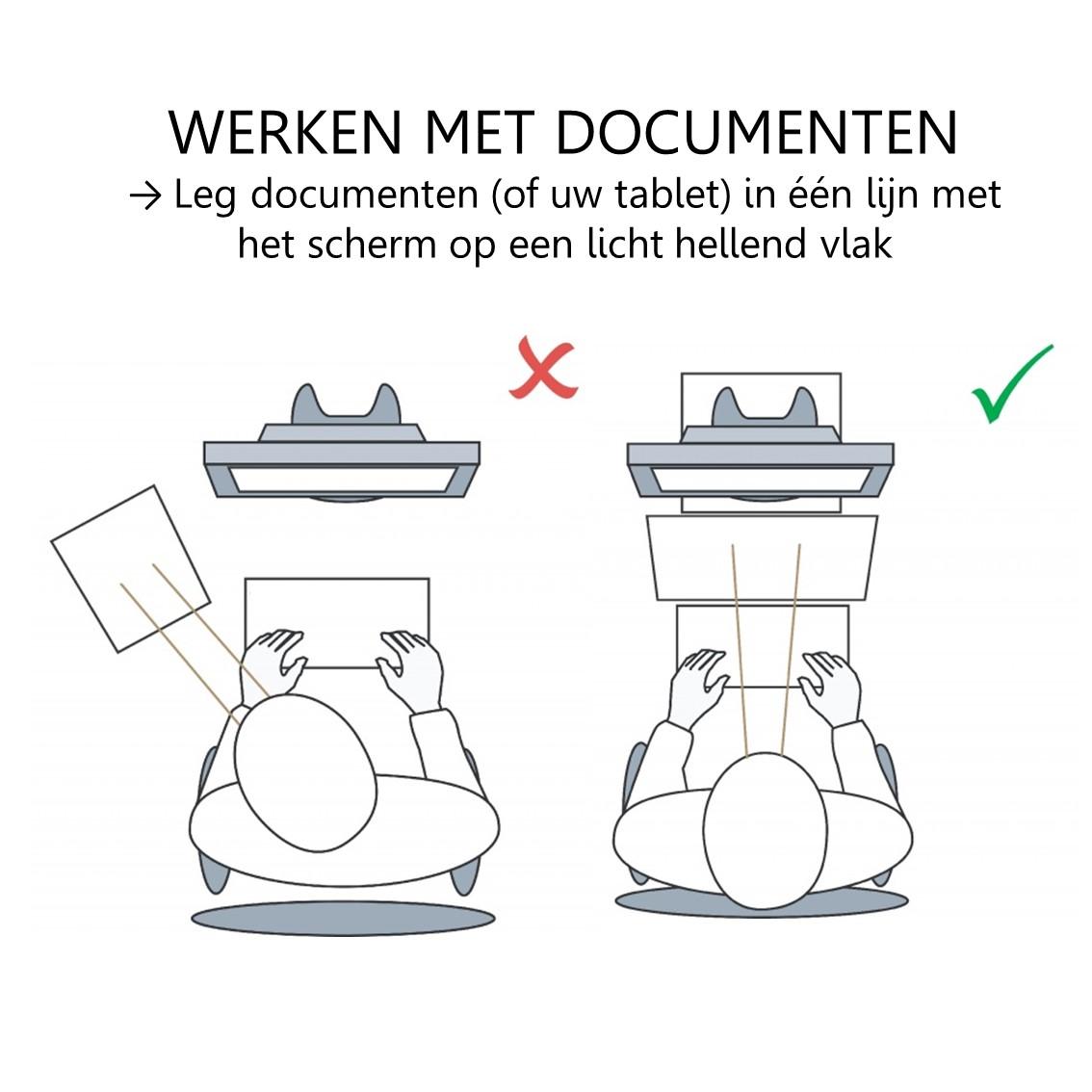 Ergonomische werken met een documenthouder